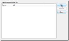 select tfs server 2